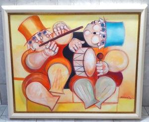 RAPOPORT, ALEXANDRE - O.S.T Os dois músicos - 80 X 100 cm tela e 95 X 115 com moldura.