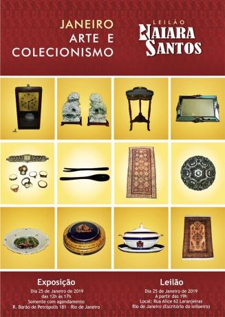 LEILÃO NAIARA SANTOS - JANEIRO - ARTE E COLECIONISMO