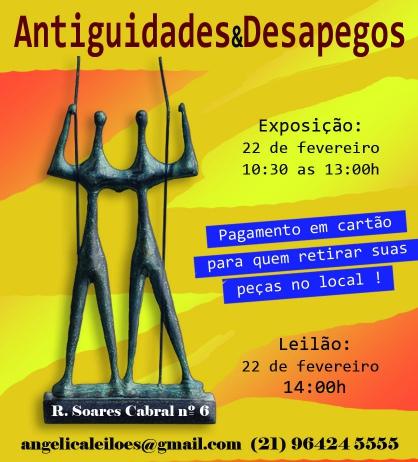 LEILÃO ANTIGUIDADES E DESAPEGOS - FEVEREIRO 2019