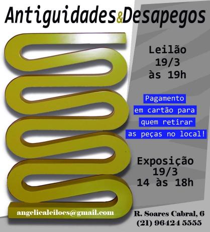 LEILÃO ANTIGUIDADES E DESAPEGOS - MARÇO 2019