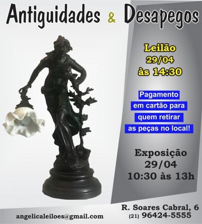 LEILÃO ANTIGUIDADES E DESAPEGOS - ABRIL 2019