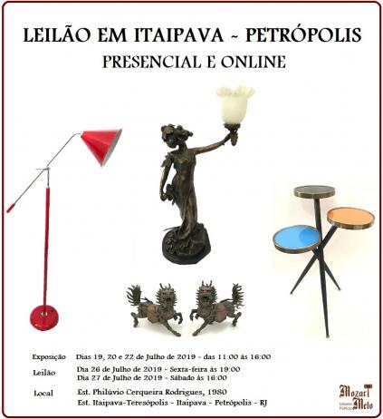 LEILÃO RESIDENCIAL EM ITAIPAVA - PETRÓPOLIS - JULHO DE 2019